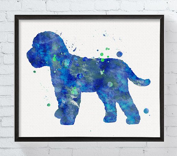 Cockapoo Print Watercolor Art Printable Dog Poster Dog Painting