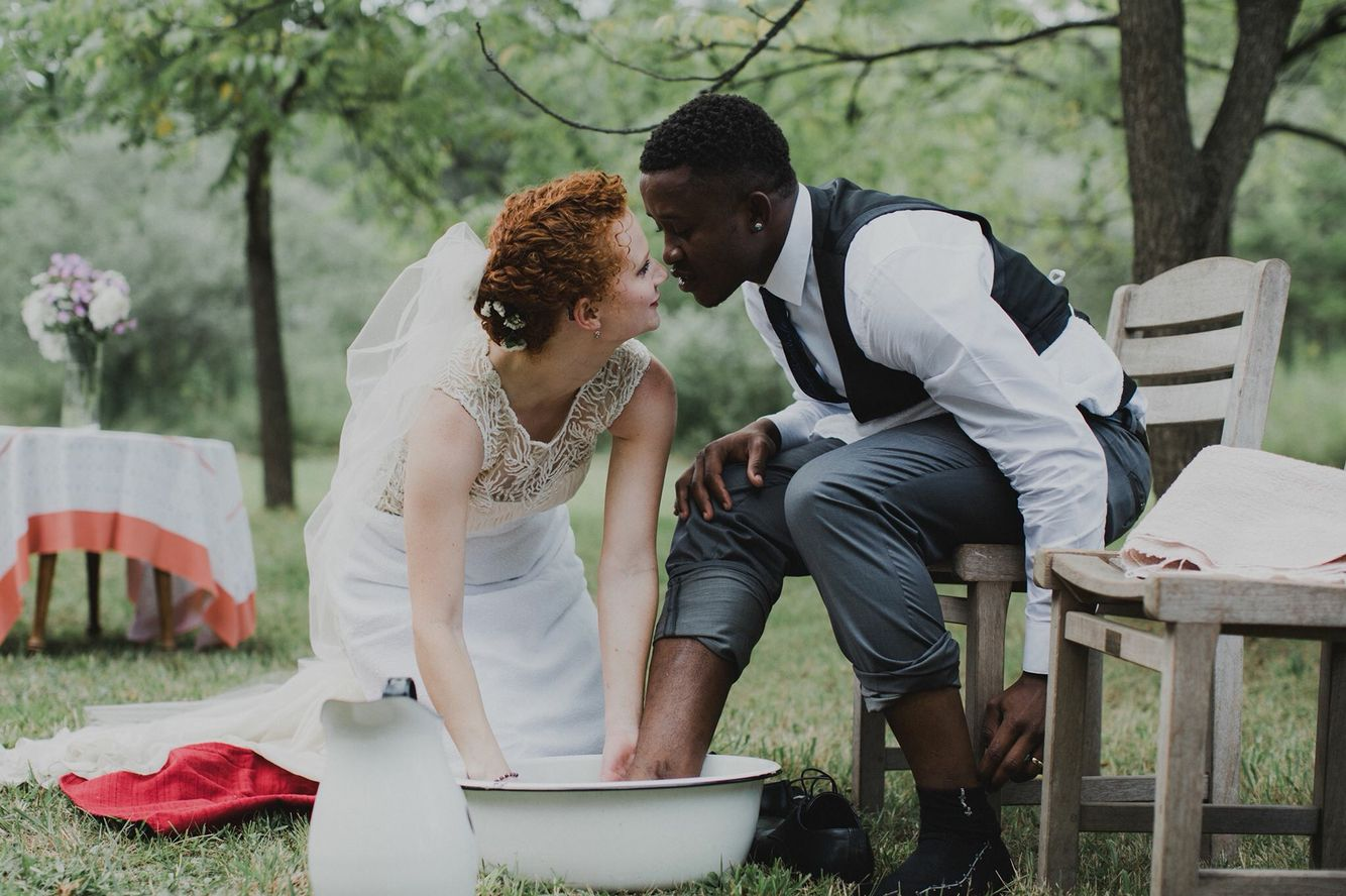 This Will Happen If I Ever Get Married Washing Of The Feet On Your Wedding Day As A Symbol Of Servitude To Yo Interracial Wedding Wedding Pennsylvania Wedding
