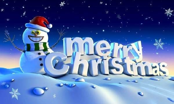 Funny Snowman Merry Christmas Photos free Download 2013