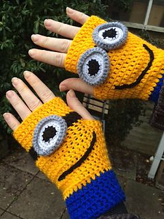 Minion handwarmers pattern by Tink Jones
