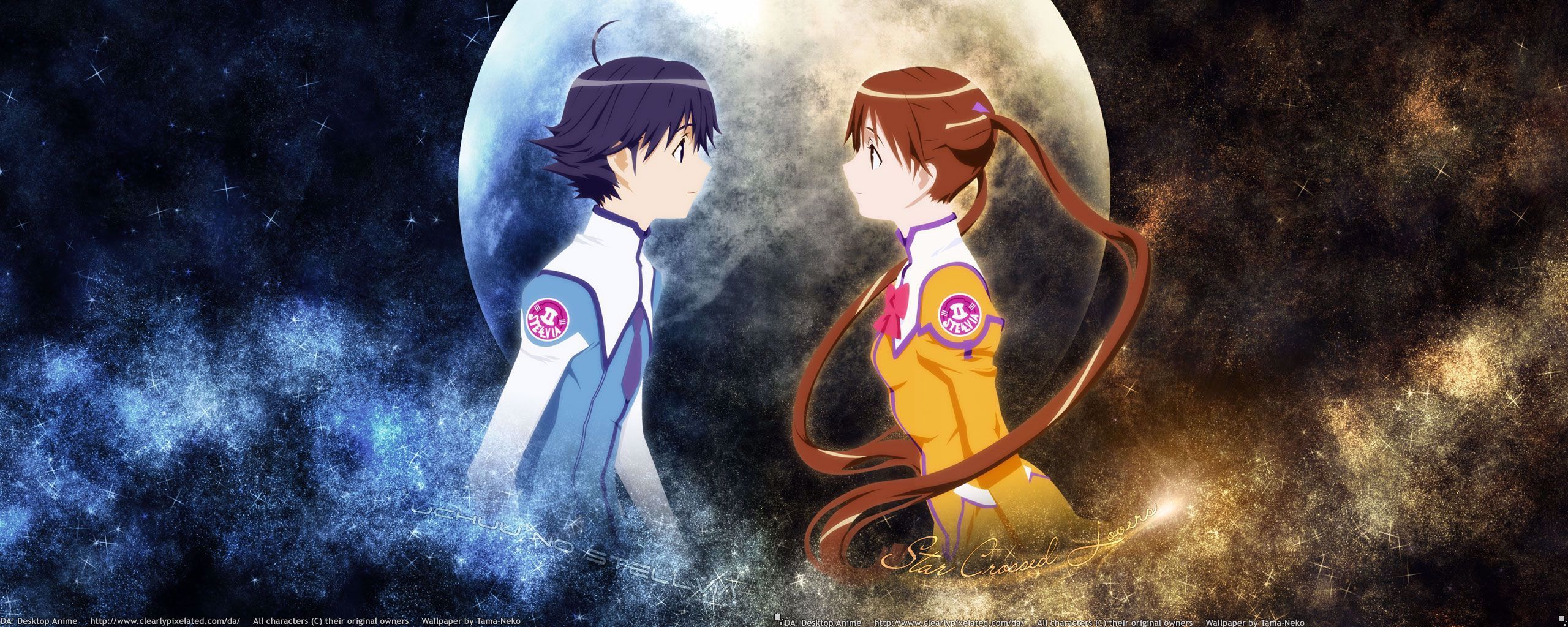 Anime Couple Uchu No Stellvia In 2020 Dual Monitor Wallpaper Anime Anime Wallpaper