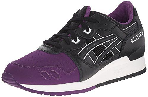 ASICS GEL Lyte III Retro Running Shoe, Purple/Black, 8.5 M US * Click image for more details.