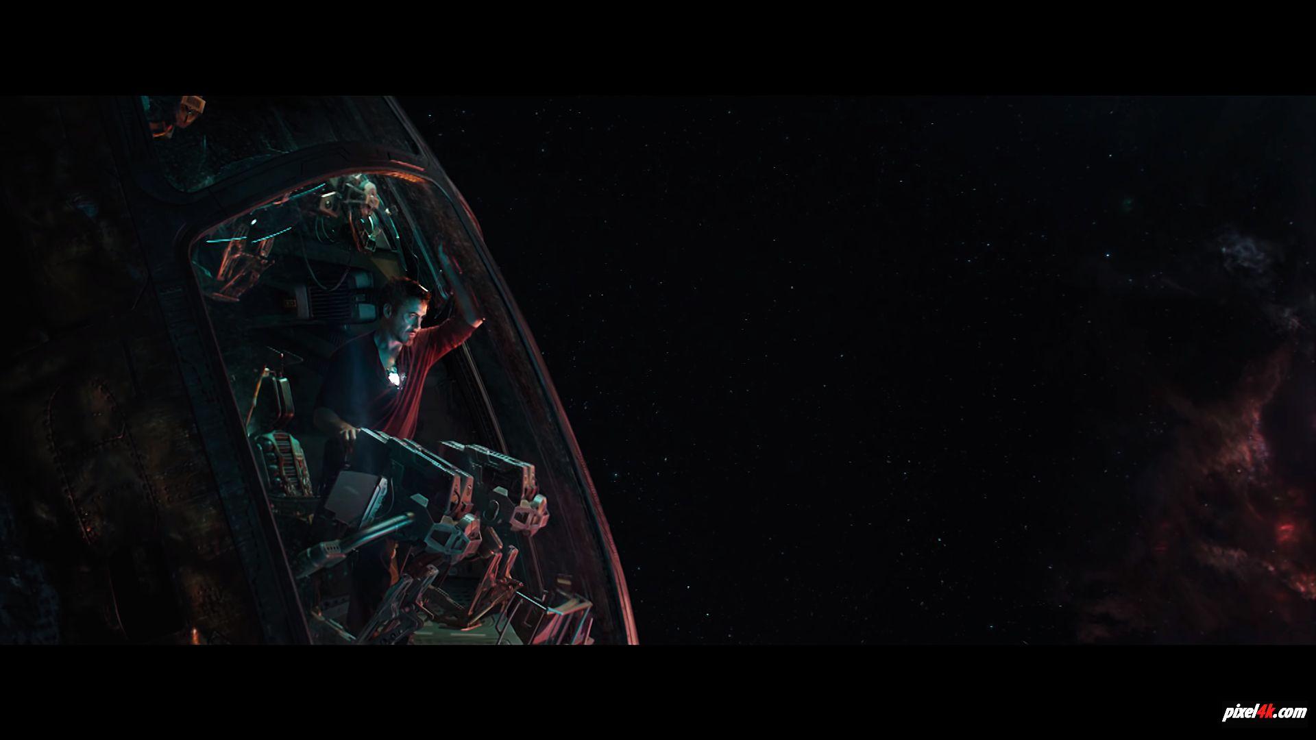 Wallpaper 4k Avengers 4 End Game Tony Stark In Space Avengers 4