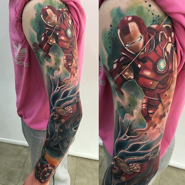 ongoing avengers sleeve marvel marvelcomics tattoo marveltattoo tattoo pinterest. Black Bedroom Furniture Sets. Home Design Ideas
