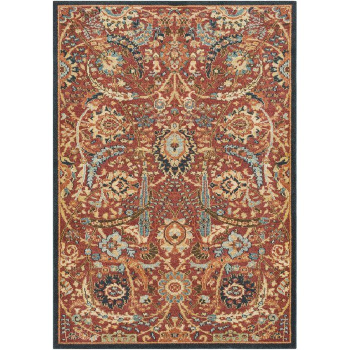 Naranjo Traditional Burnt Orange Area Rug In The House Rugs