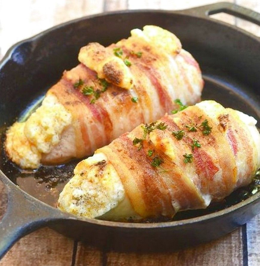 Bacon Wrapped Cheese Stuffed Chicken Top Recipes