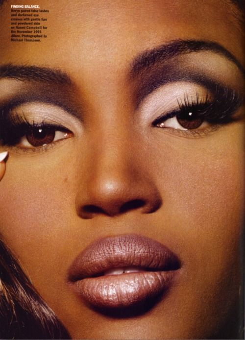 Naomi Campbell Circa 1990 S The Make Up Was Used A Lot Back