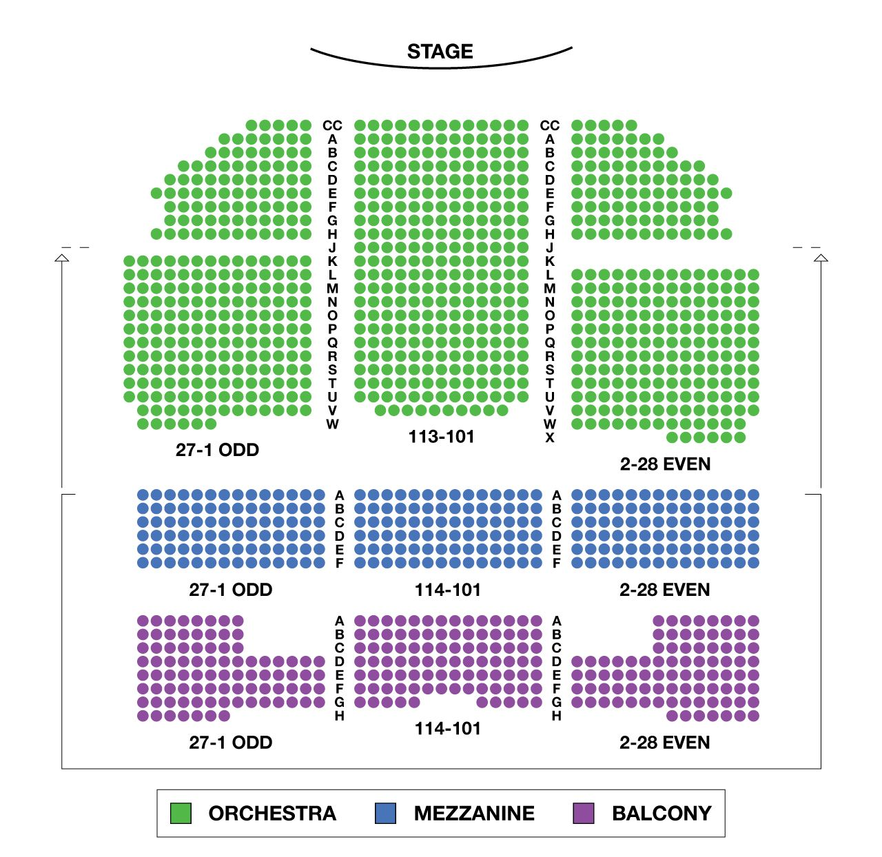 Richard Rodgers Theatre Broadway Seating Chart Large Richard Rodgers Seating Charts Chart