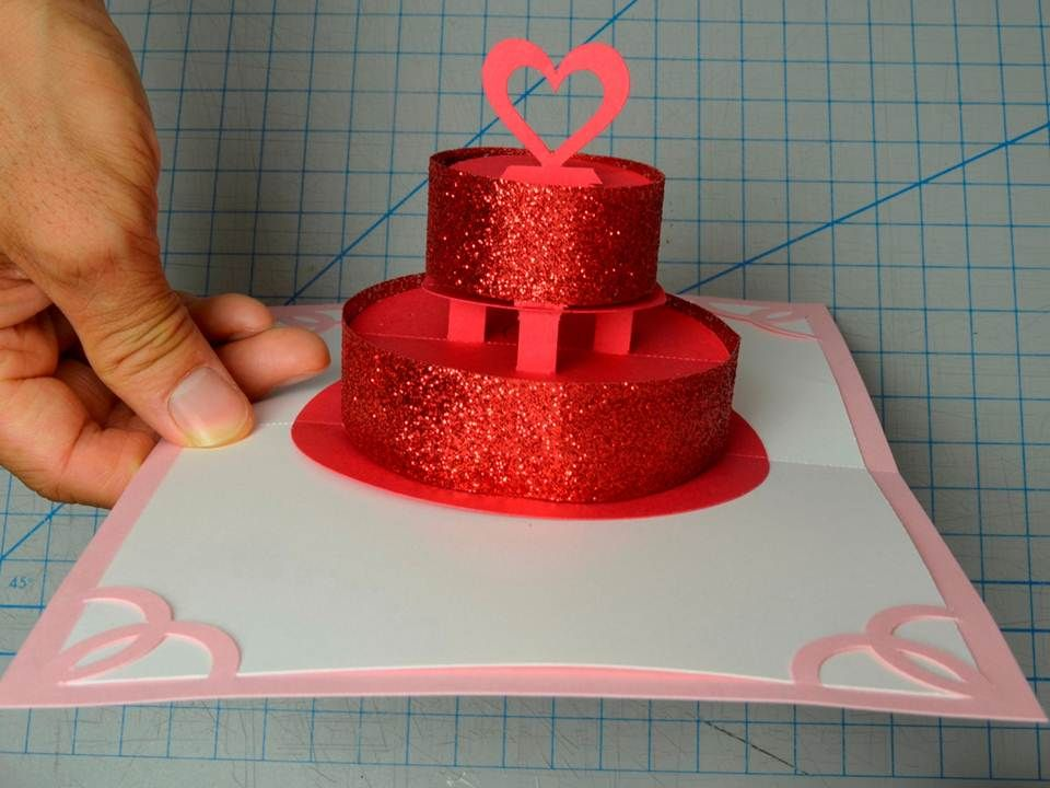 How To Make A Birthday Cake Or Wedding Cake Pop Up Card Creative Pop Up Cards Pop Up Cards Diy Cake Pops Wedding Cake Pops