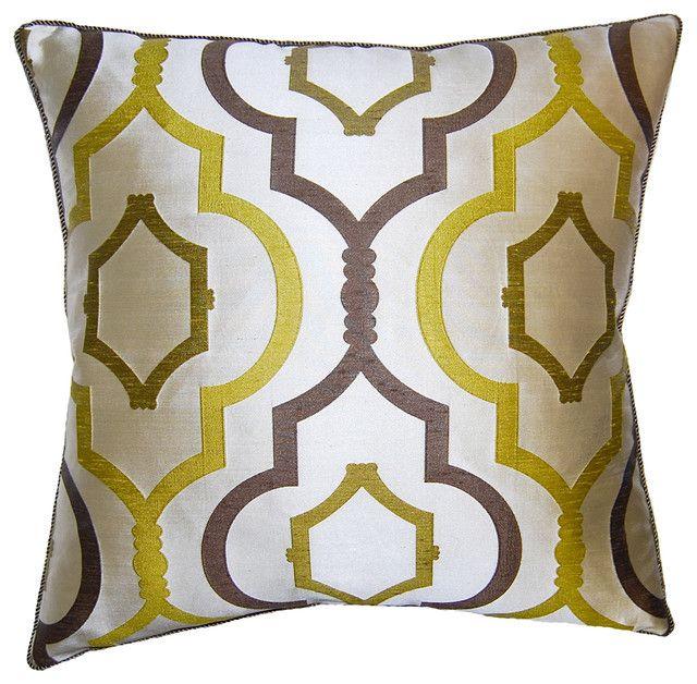Ornate Citron Cushion.