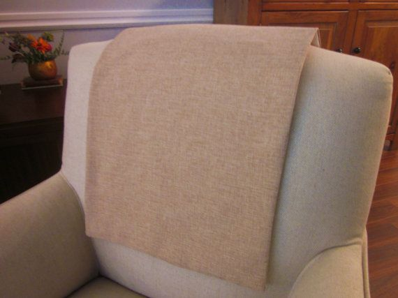Headrest Chair Protector Or Cover Linen Like Poly Beige Latte 30 X 14 Recliner Chair Sofa Head Rest Cover Antimacassar Chair Headrest Sofa Chair
