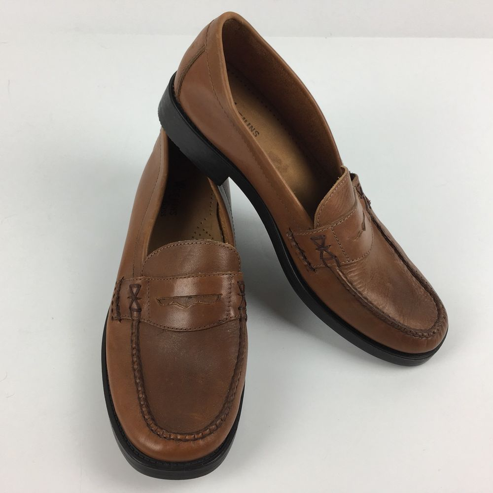 3e0cb1fe3d8 Bass Weejuns Katherine Penny Loafer Size 8 Brown Leather Shoe Womens Brazil