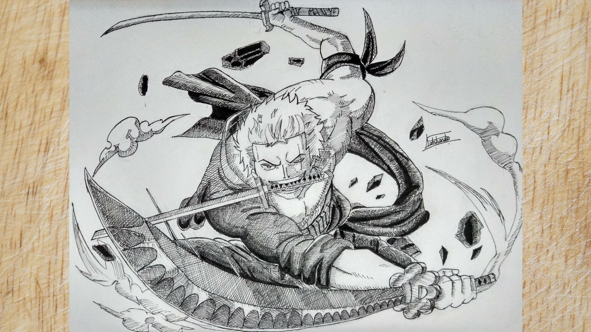 How To Draw One Piece Zoro