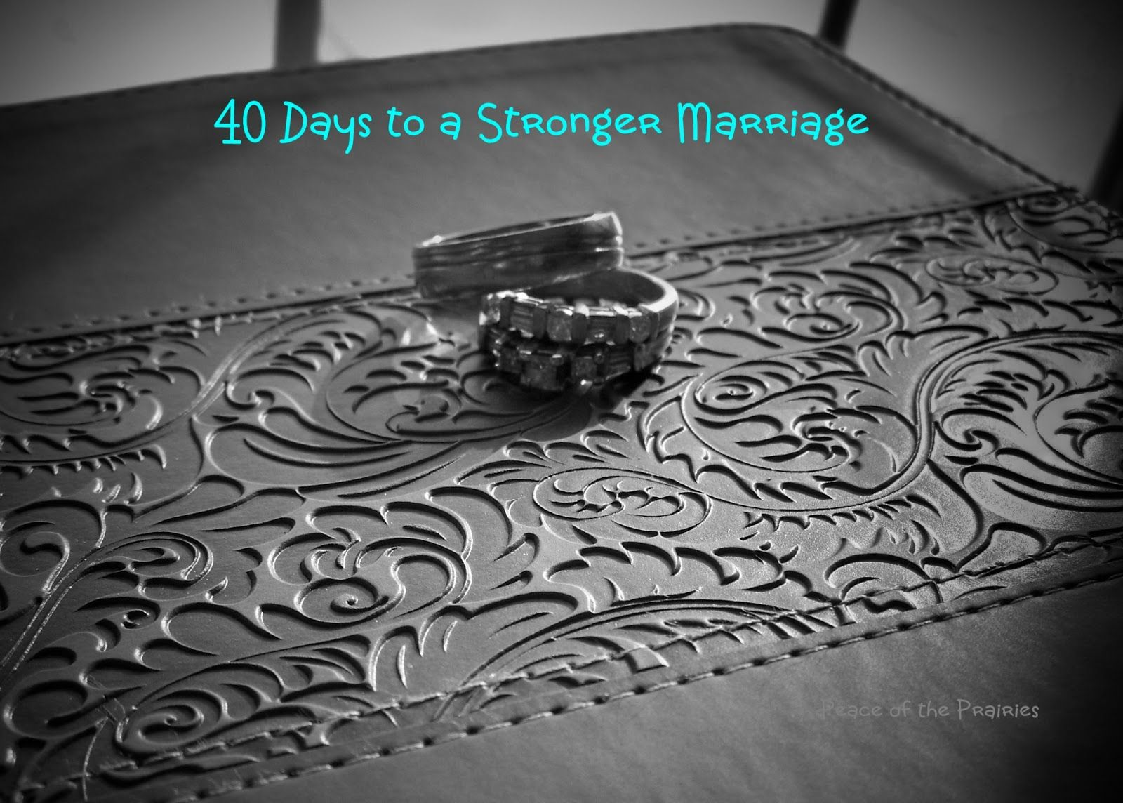 Peace of the Prairies: 40 Days to a Stronger Marriage ~ Day 36