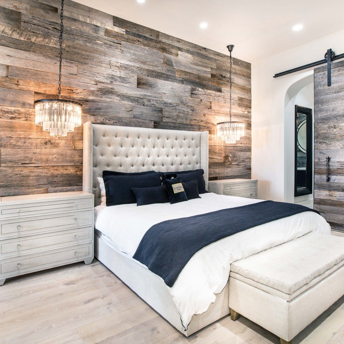 3 Twitter Rustic Master Bedroom Wood Walls Unique