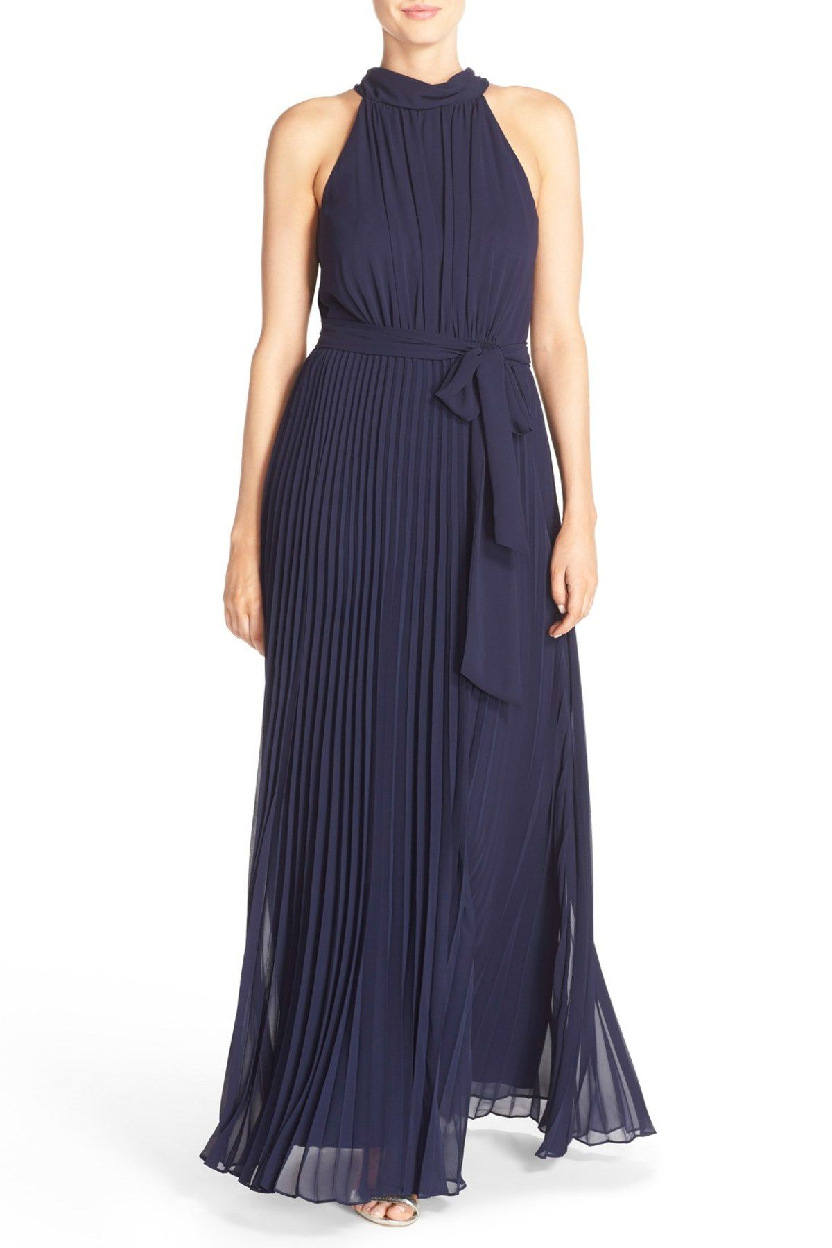 Eliza j pleated chiffon aline maxi dress maxi dresses free