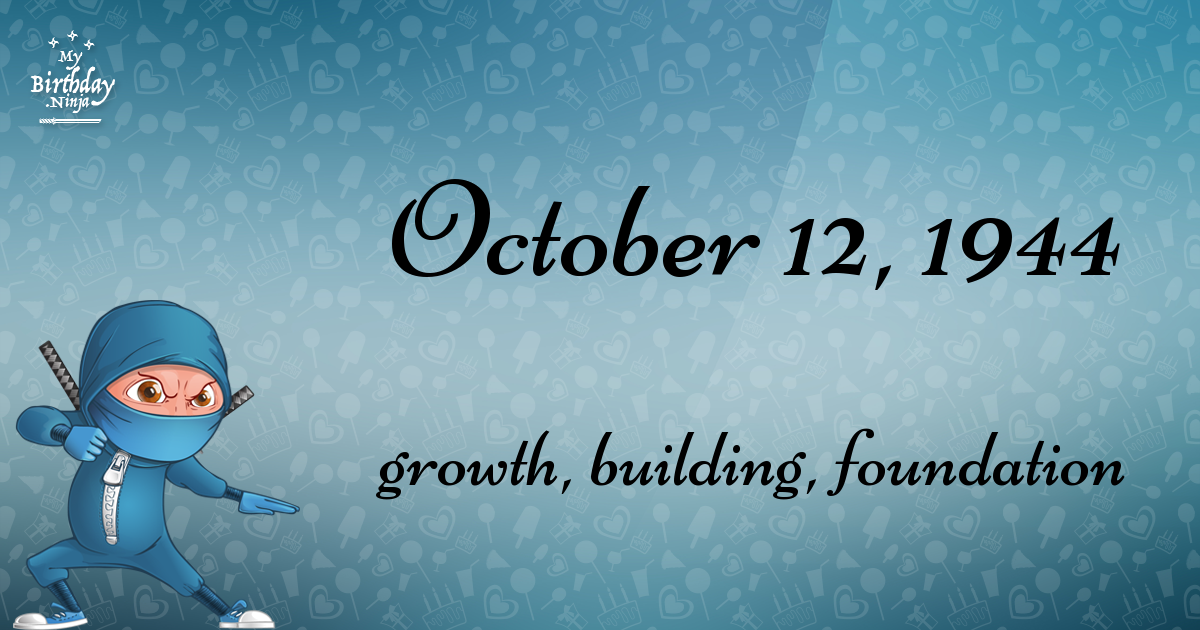 17 Fun Birthday Facts About October 12 1944 You Must Know Birthday Fun Birthday 1954 Birthday