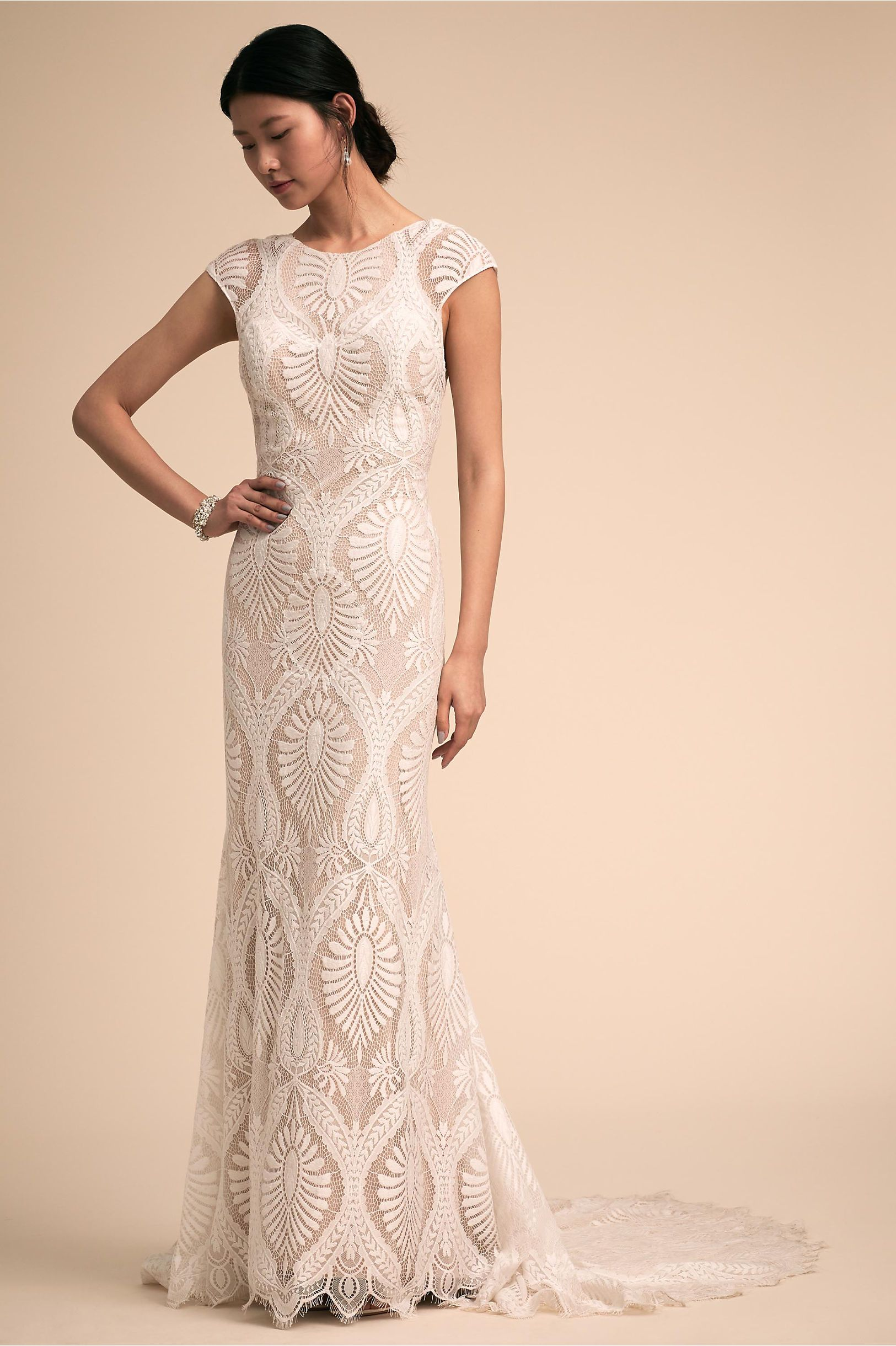 fce2443226748 BHLDN's Ludlow Gown in Nude/ivory. BHLDN's Ludlow Gown in Nude/ivory Boho  Wedding ...