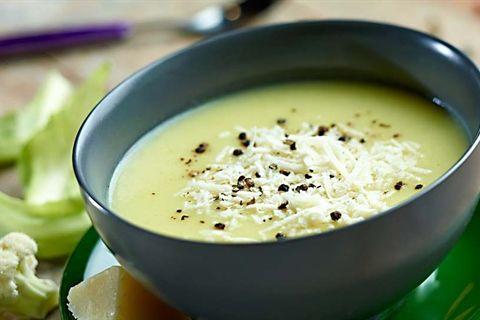 Kremowa Zupa Z Kalafiora Przepis Recipe Food Creamy Cauliflower Soup Health Food