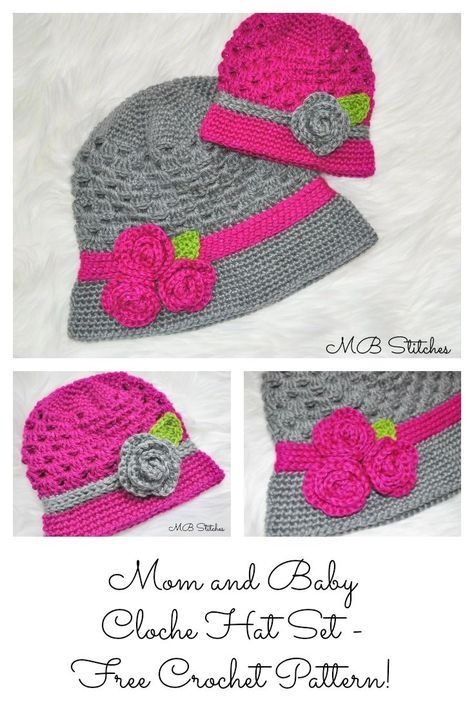 Mom And Baby Cloche Hat Set Cloche Hats Crochet Clothes And Crochet
