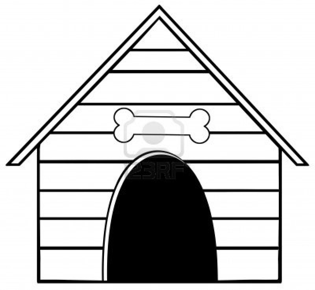 Dog House Clipart The Cliparts Dog Kennel Cover Dog Outline