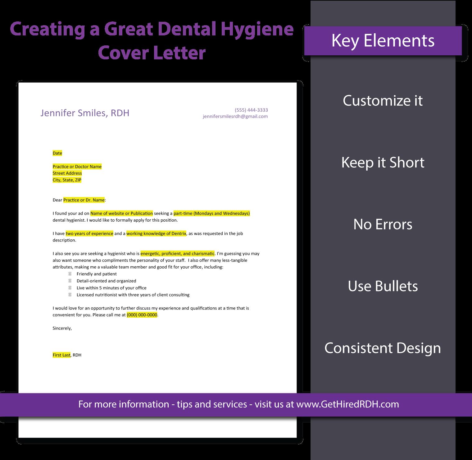 Dental Hygiene Cover Letter Template | Dental hygienist | Pinterest