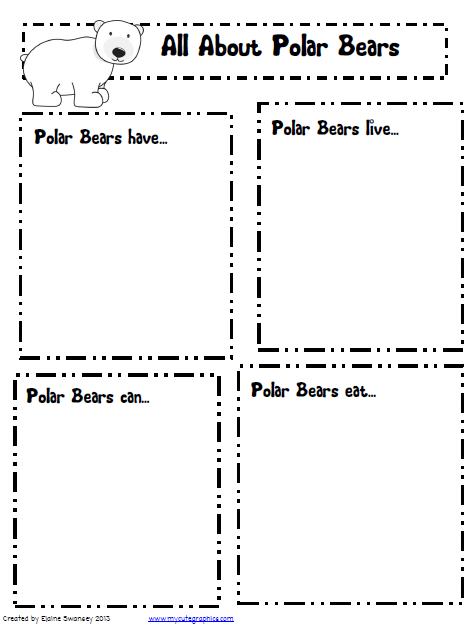 Polar Bear Fact recording sheet...can turn into s general