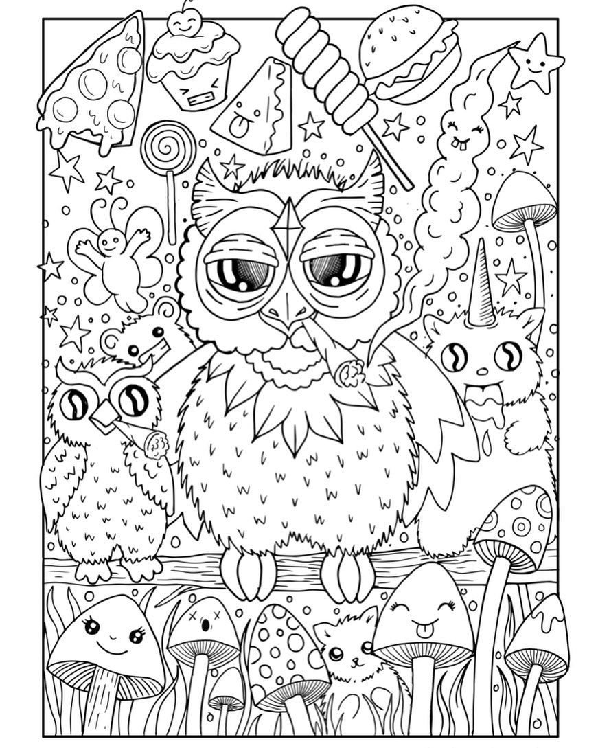 Free Coloring Page From Stoner Coloring Book Owl Coloring Pages Coloring Pages Name Coloring Pages