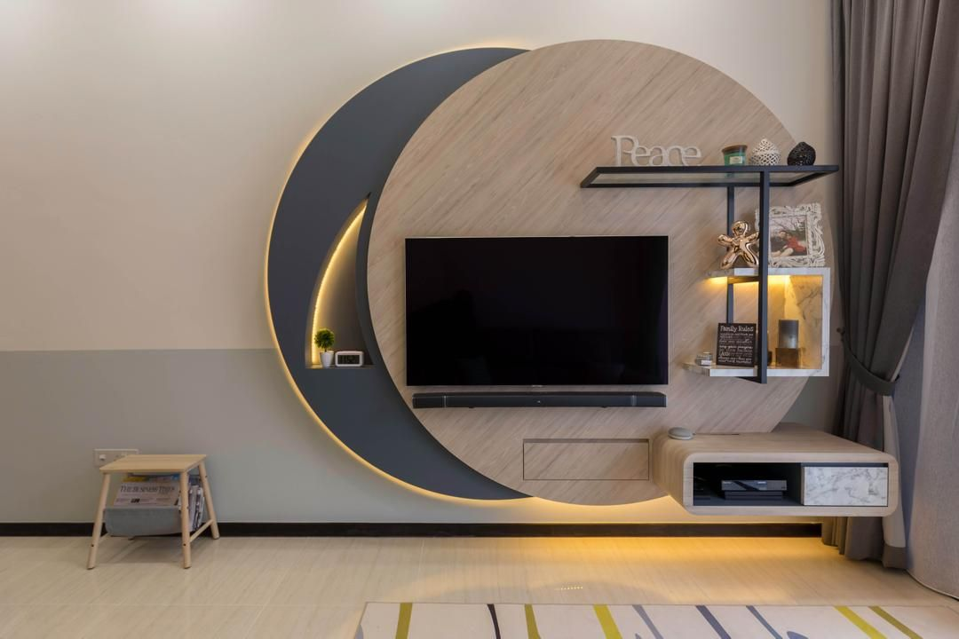 Check Out This Condo Dining Room And Other Similar Styles On Qanvast Interior Design Dining Room Living Room Tv Unit Designs Wall Tv Unit Design