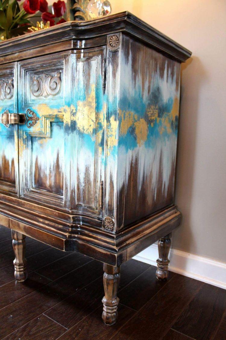 #DIY #Ideen für #Shabby #Möbel mit #Blattgold Akzente #furnitureredos