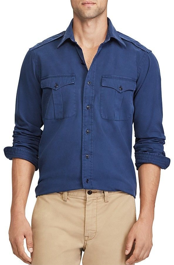 cffa5692 Polo Ralph Lauren Iconic Military Button-Down Shirt | Products