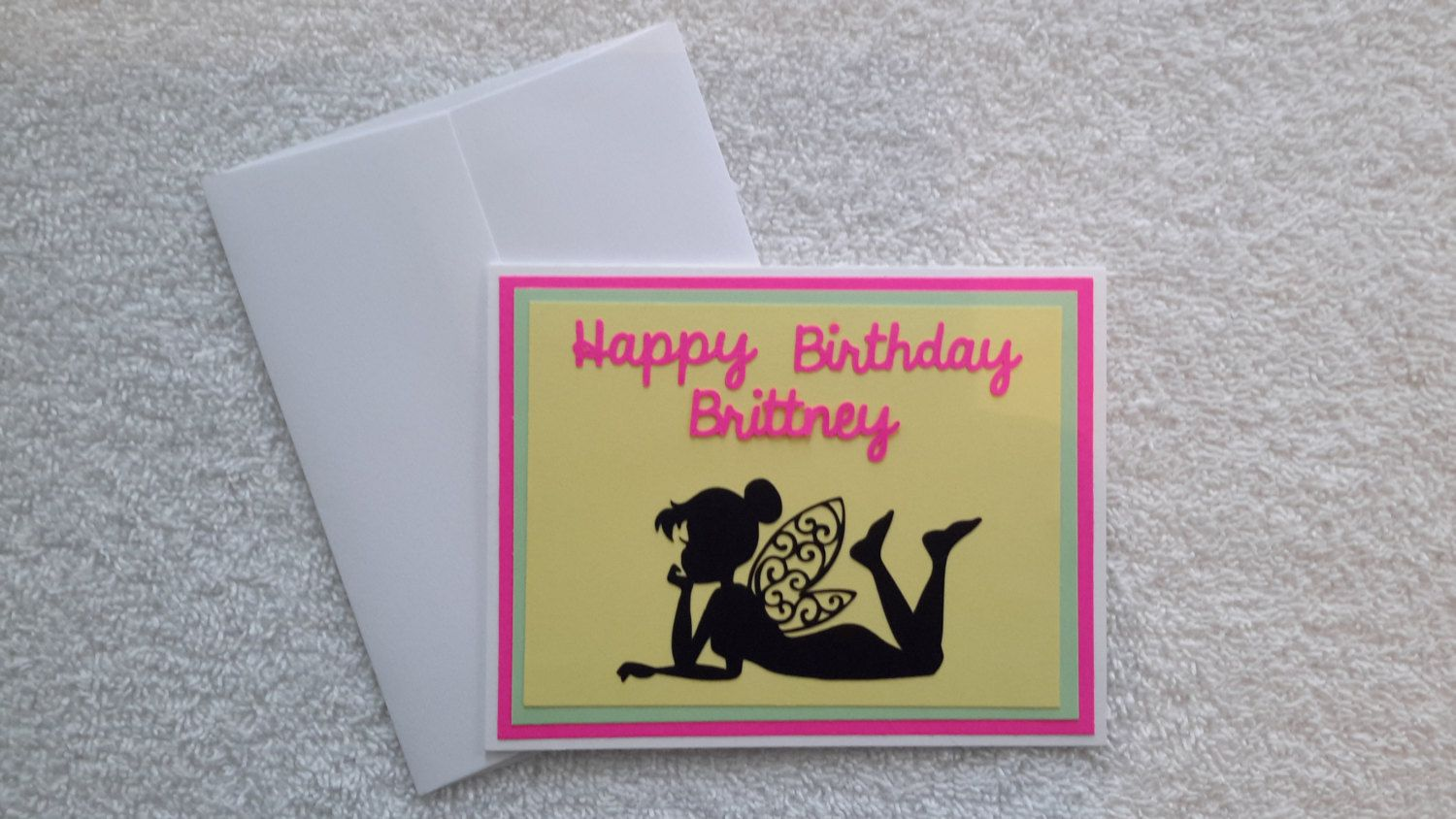 Fairy Silhouette Personalized Blank Inside Happy Birthday Greeting