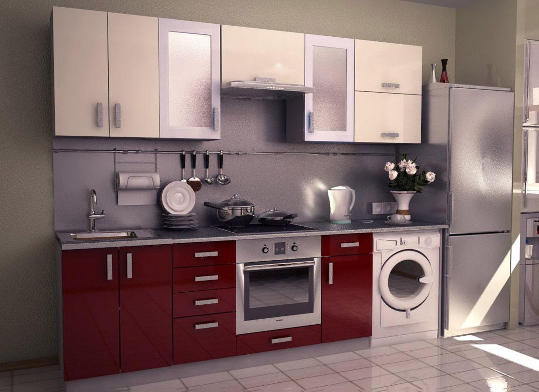 Aamoda kitchen single wall modular kitchen concept and for Small kitchen units