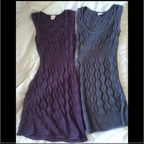 BUNDLE sweater tanks Purple and gray sweater tanks.  Very comfortable, can wear this over a long sleeve, Tshirt or another tank! Great for layering Tops