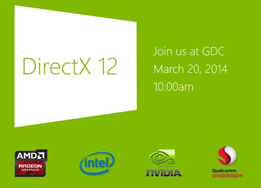 Microsoft mostrará DirectX 12 el próximo 20 de marzo en GDC 14  http://www.xatakawindows.com/p/107684