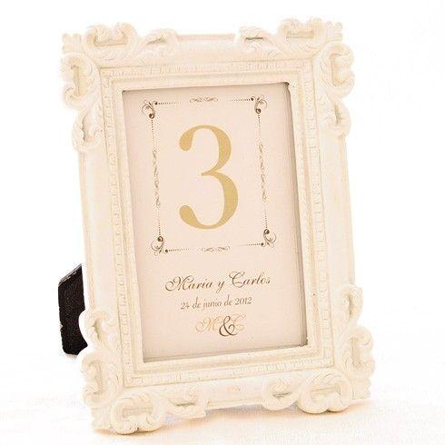 marco vintage para nmeros de mesa de boda unidades