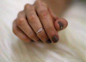 infinity first knuckle ring <3