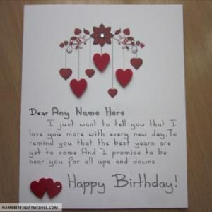 Romantic Birthday Card Ideas For Lover With Name