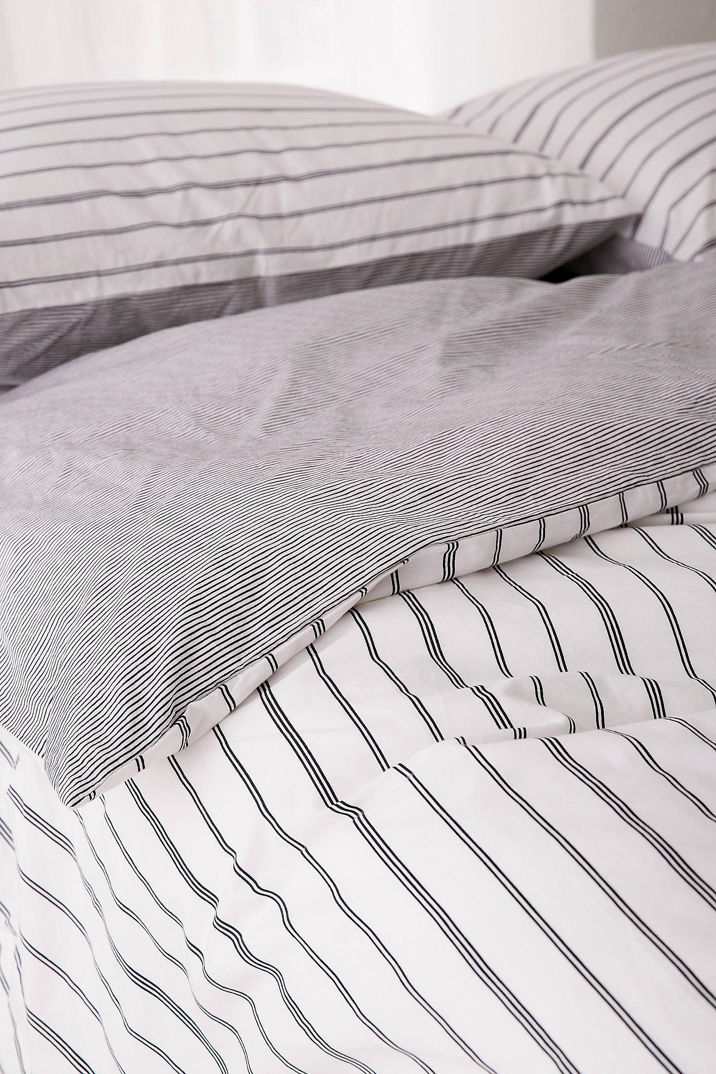 Reversible Stripe Duvet Cover Striped Duvet Covers Striped