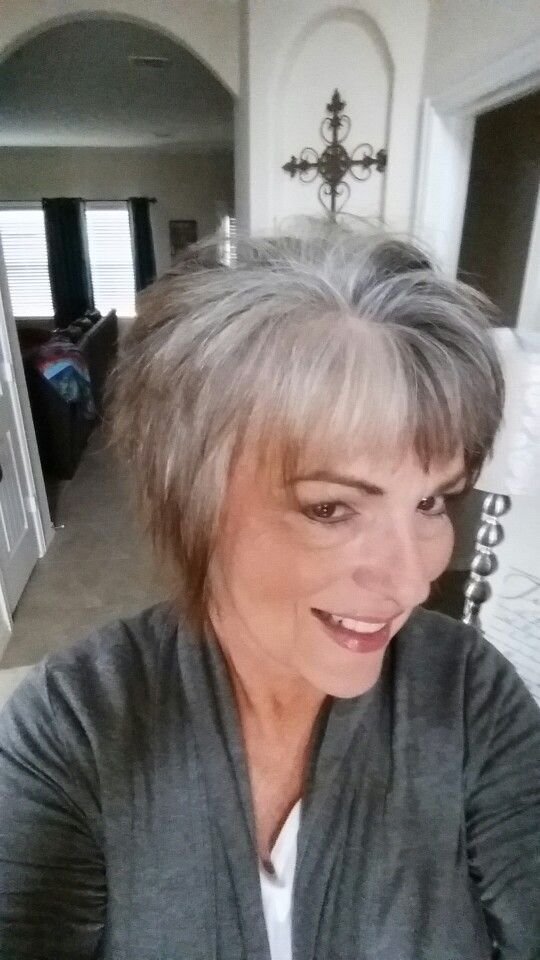 After 5 months no color gray grow out | hair grow out | Pinterest ...
