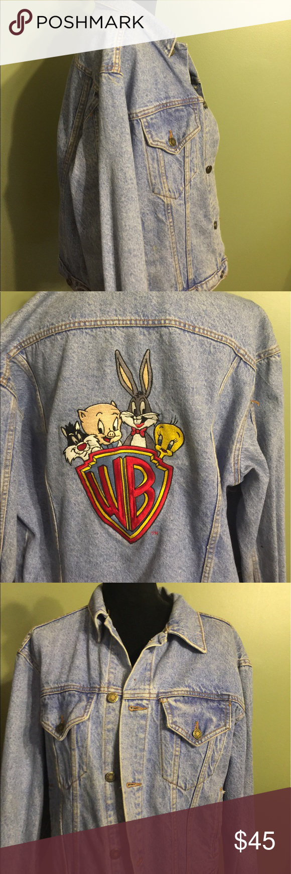 Warner Brother's Jean jacket medium Jean jacket bought at