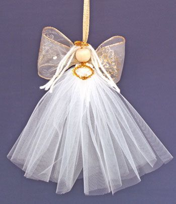 Easy Angel Crafts Tulle Hanging As Decoration Tutorial
