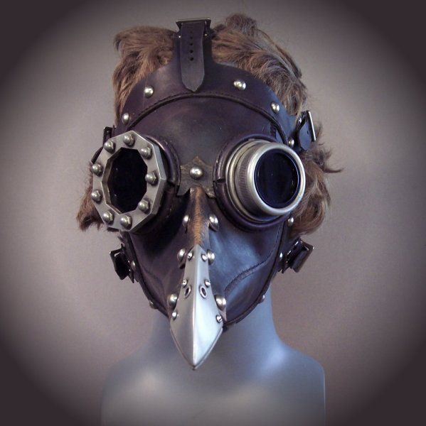 """Steampunk Plague Doctor mask. Character design inspiration for """"The Mortician."""""""