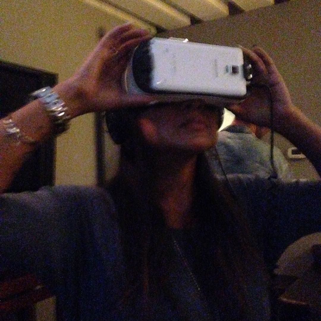 An awesome Virtual Reality pic! First #virtualreality experience @therapystudios this is the future #vr #therapystudios @chumpchampion @denjahng #djdenjahng by skinneemonkey check us out: http://bit.ly/1KyLetq