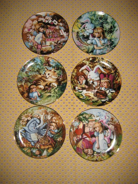 Mint Set of Six Alice in Wonderland Collectors Plates by Lawrence Whittaker & SALE Mint Set of Six Alice in Wonderland Collectors ?? alanna88 ...