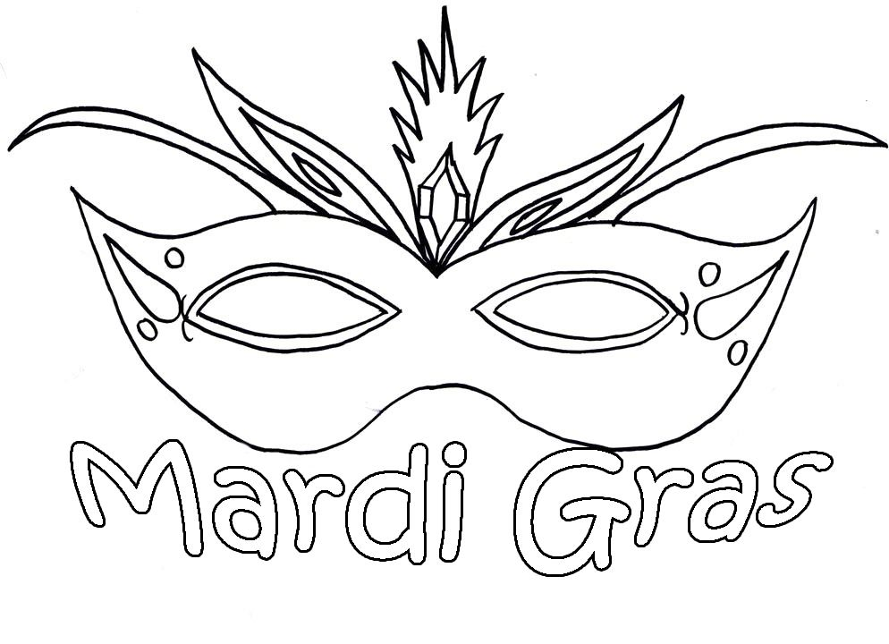 Beautiful Mardi Gras Mask Printable Coloring Pages Coloring Pages ...