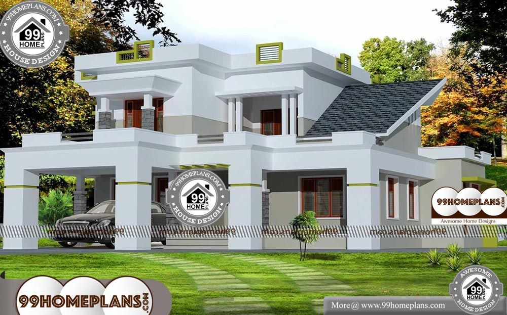 2500 Sq Ft House Plans Kerala 2 Story 2500 Sqft Home 2500 Sq Ft House Plans Kerala Double Storied Cute 3 New House Plans House Plans Modern Farmhouse Plans