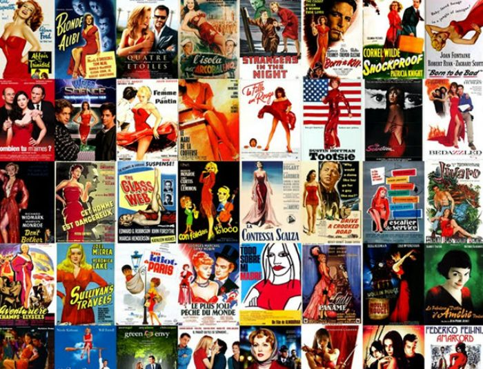 Movie Posters That Feature A Woman Wearing A Red Dress Movie