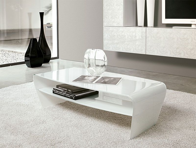 Modern Glass Coffee Tables For Living Rooms White Glass Coffee