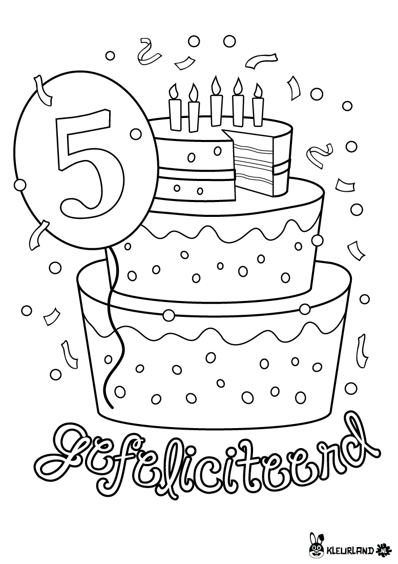 verjaardagstaart 5 jaar verjaardagskalender
